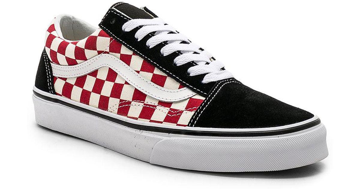 Lyst Vans Checkerboard Old Skool In Red For Men