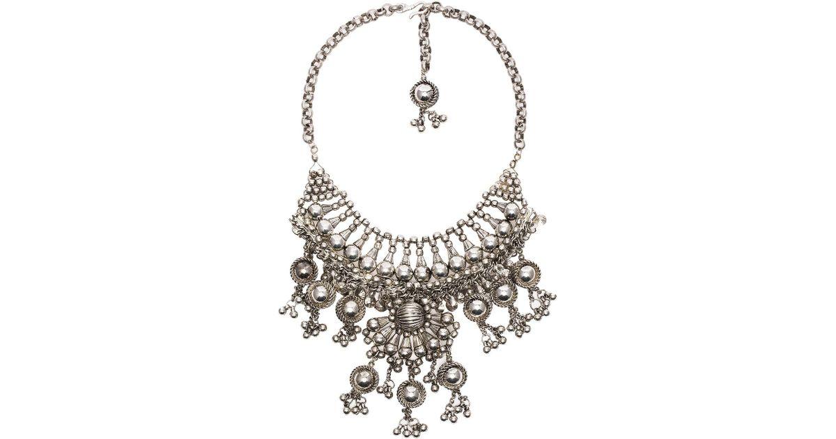 CHILD OF WILD Moon Dweller Indian Necklace in Metallic Silver uMyjhM8xmP