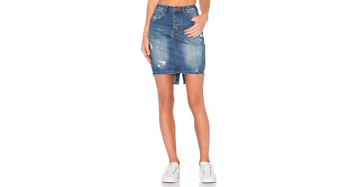 Lyst - One Teaspoon 2020 Skirt in Blue