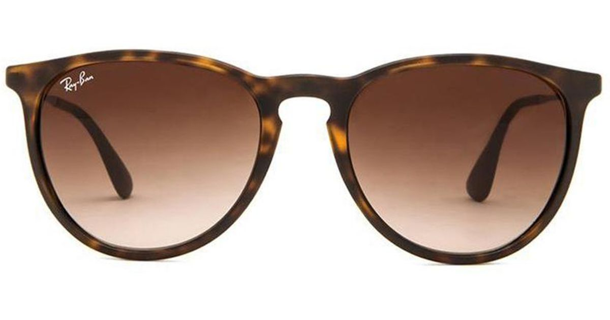 5d99246feb Ray Ban Womens Erika Round Sunglasses Tortoise Brown Sunglasses ...
