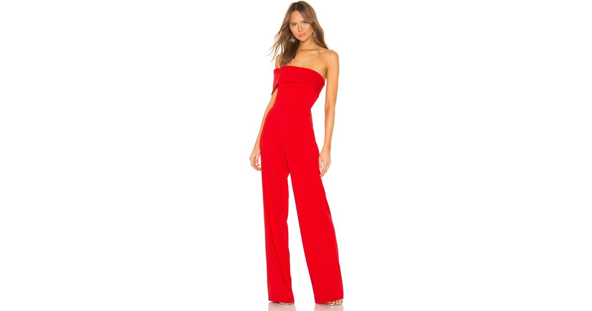 a5efd201380 Jay Godfrey Drewe Jumpsuit in Red - Lyst