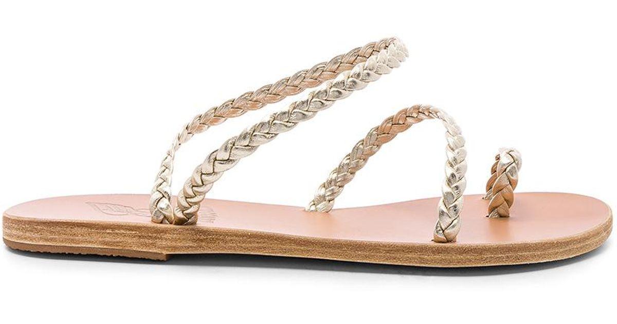 9b8f7657895a91 Lyst - Ancient Greek Sandals Eleftheria Sandal In Metallic Silver