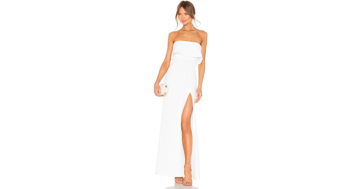 a32e7af4 Lovers + Friends Anzen Gown in White - Lyst