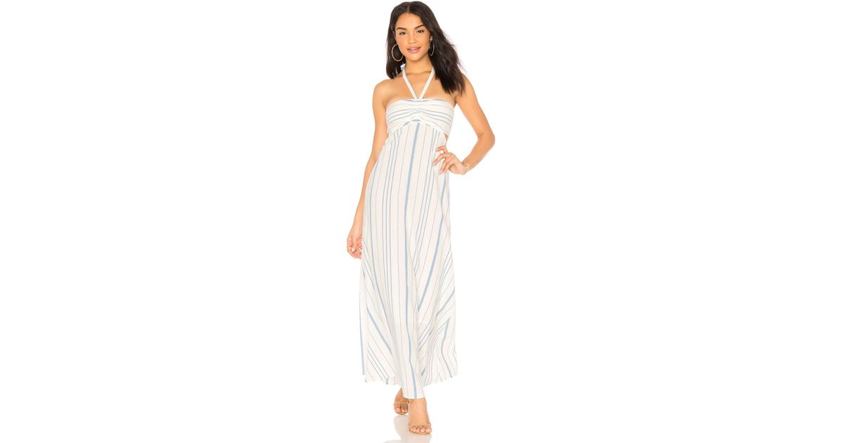 Cinched Bodice Maxi Dress in White