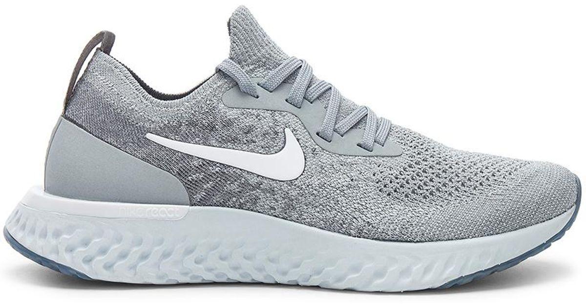 c0e166f6f284 Lyst - Nike Epic React Flyknit Sneaker In Gray in Gray