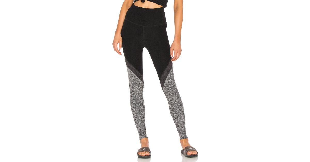 084c903e1c1d9 Beyond Yoga Tri-panel Spacedye High Waisted Midi Legging in Black - Lyst