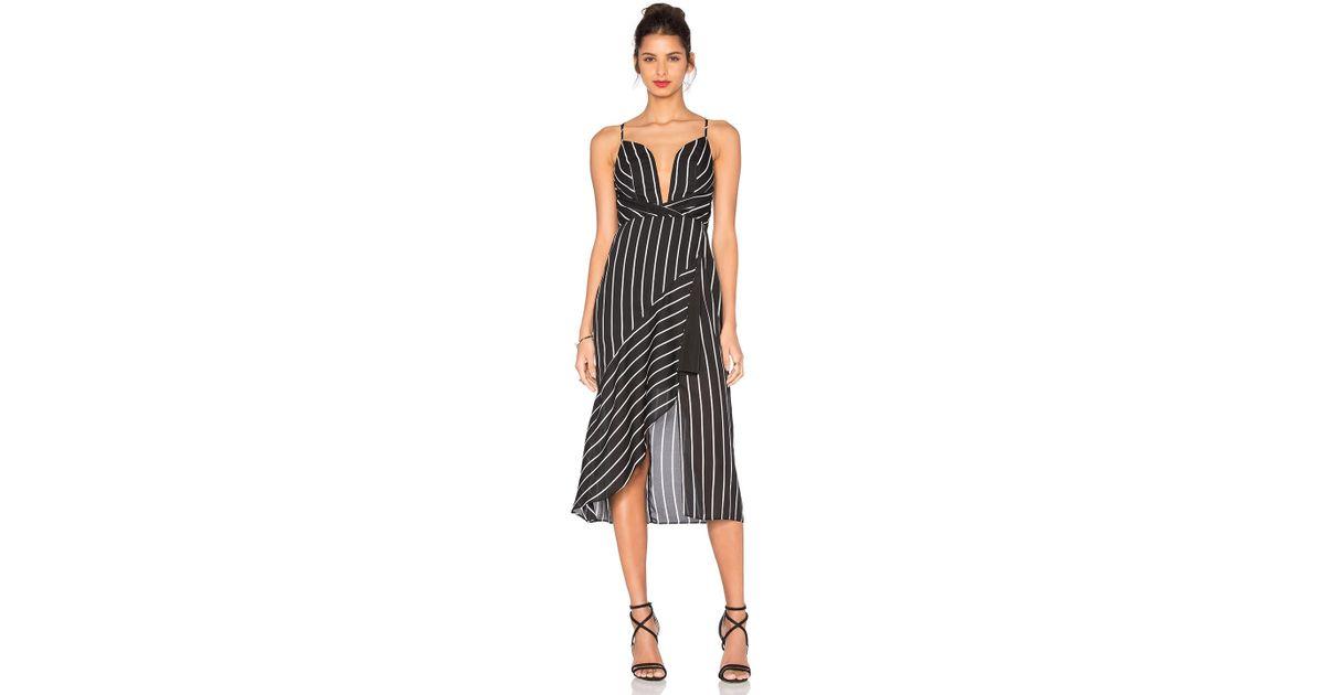 5d9f64f8352 Lyst - Shona Joy Isabelle Asymmetric Cocktail Dress in Black