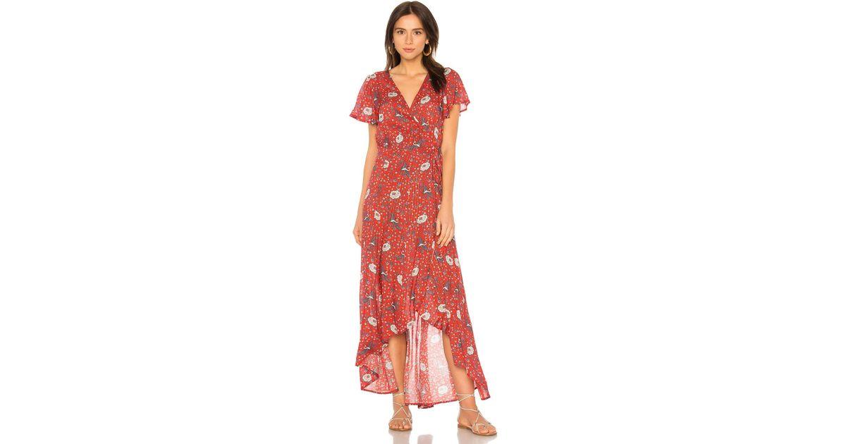 73facc07f03e Auguste Valentina Fiesta Wrap Maxi Dress in Red - Lyst