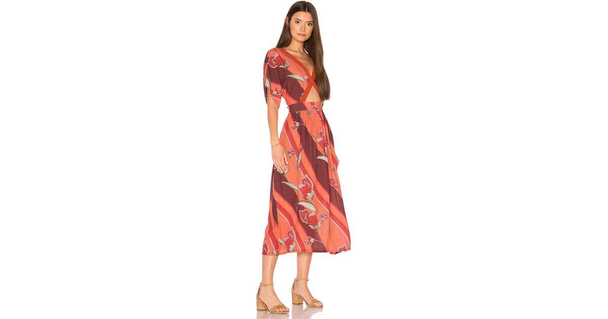 873daaa6ded Lyst - Novella Royale Helena Dress in Red