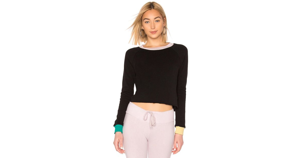 73bfc6ae2b6e03 Wildfox Beach House Crop In Black in Black - Lyst