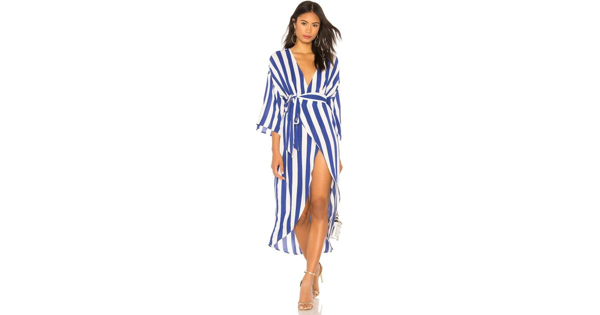 aa867a72ac78 Kendall + Kylie Wrap Dress in Blue - Lyst
