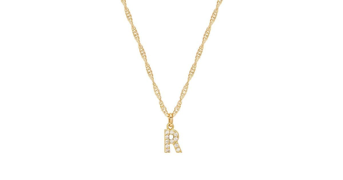 S Initial Necklace in Gold Frasier Sterling YBd0ZD1