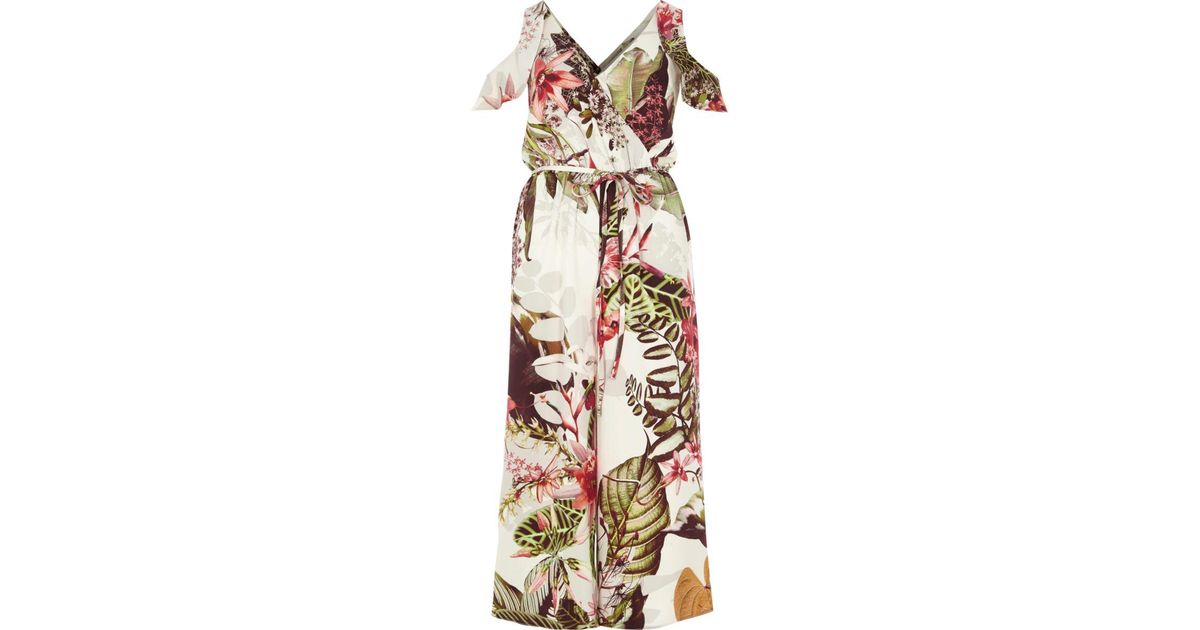 Green Floral Jumpsuit River Island