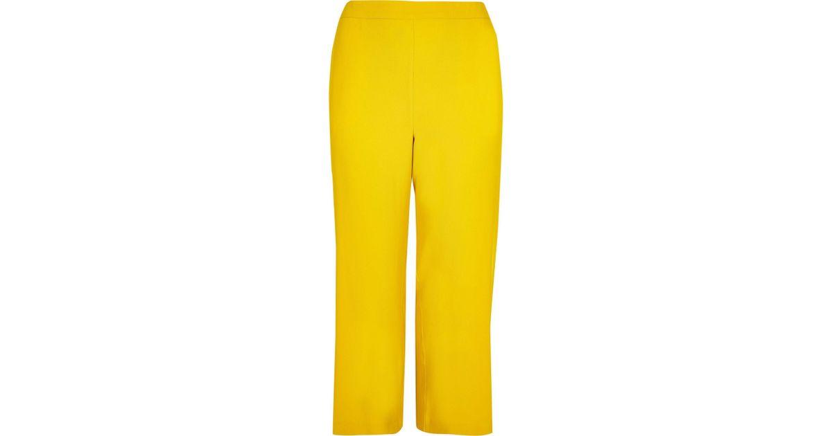 c0b35f93a26d River Island Plus Yellow Wide Leg Pants in Yellow - Lyst