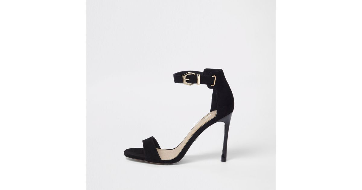 041a747341e2 Lyst - River Island Barely There Sandals in Black