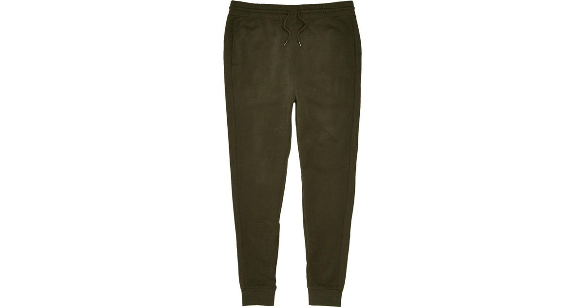 Lyst - River Island Dark Green Joggers Dark Green Joggers In Green For Men