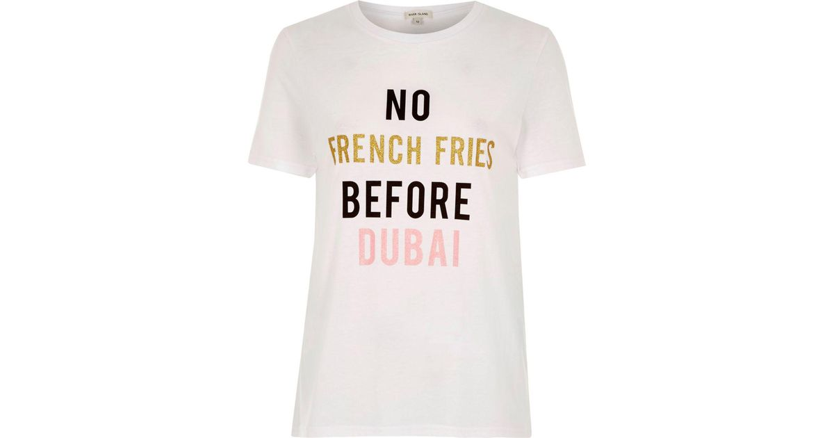 Store Online Buy Cheap Fake River Island Womens 'amour life' flock print T-shirt Latest Sale Online mPvGCUJe