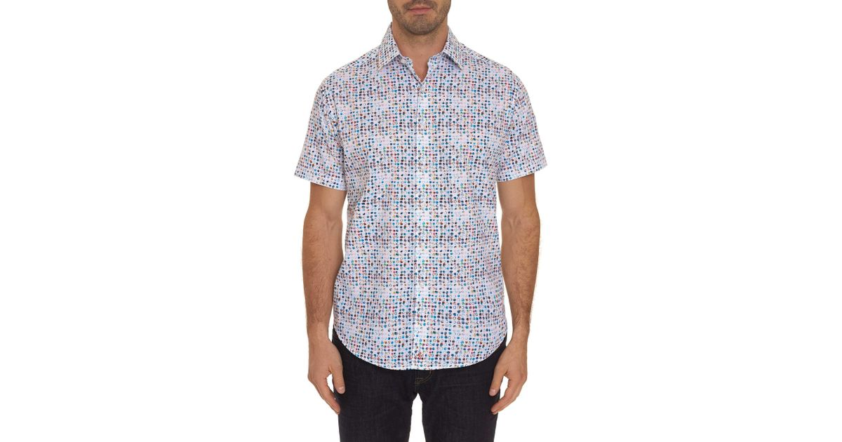 023e294a Lyst - Robert Graham Full Circle Patterned Short Sleeve Classic Fit Shirt  in Blue for Men - Save 56%