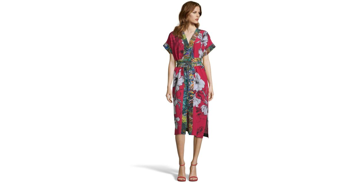 23a8c5fb85f Robert Graham - Red Angelica Large Floral Print Silk Dress - Lyst