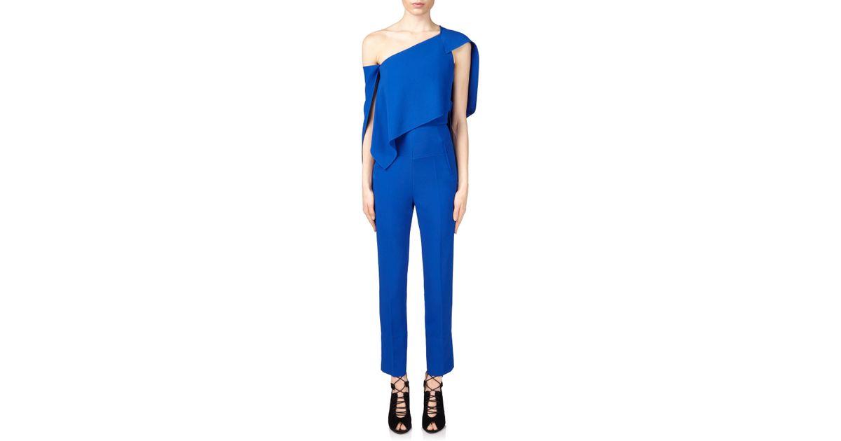 059c1e991609 Roland Mouret Carlton Jumpsuit in Blue - Lyst