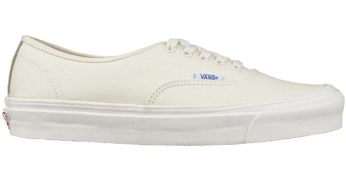 07a6b56481 Vans Ua Authentic Lx Canvas Suede in White for Men - Lyst