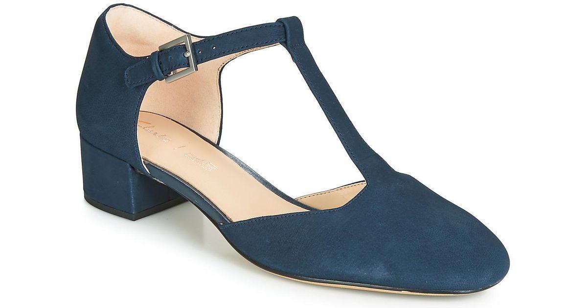 f80e1eb3953 Clarks Orabella Holly Heels in Blue - Lyst