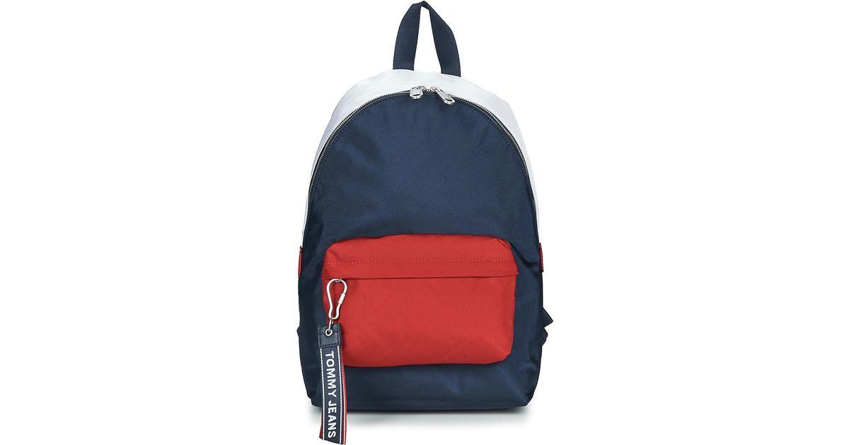 5e4e5b2c2ad Tommy Hilfiger Tju Logo Tape Med Backpack in Blue - Lyst
