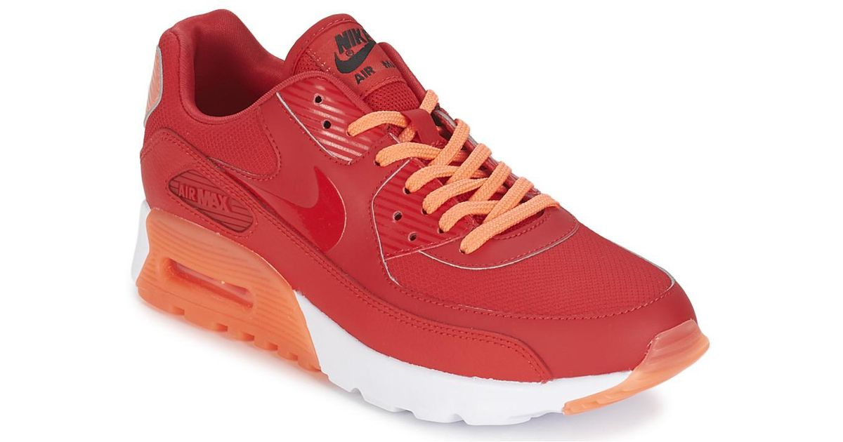 reputable site 22ab8 fcec0 Nike - Red Air Max 90 Ultra Essential W Shoes (trainers) - Lyst