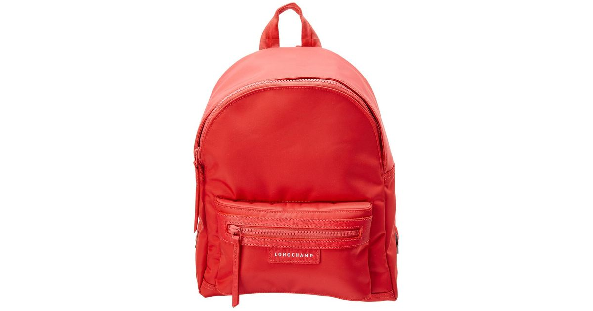 e6077e050e Longchamp Le Pliage Neo Small Nylon Backpack in Red - Lyst
