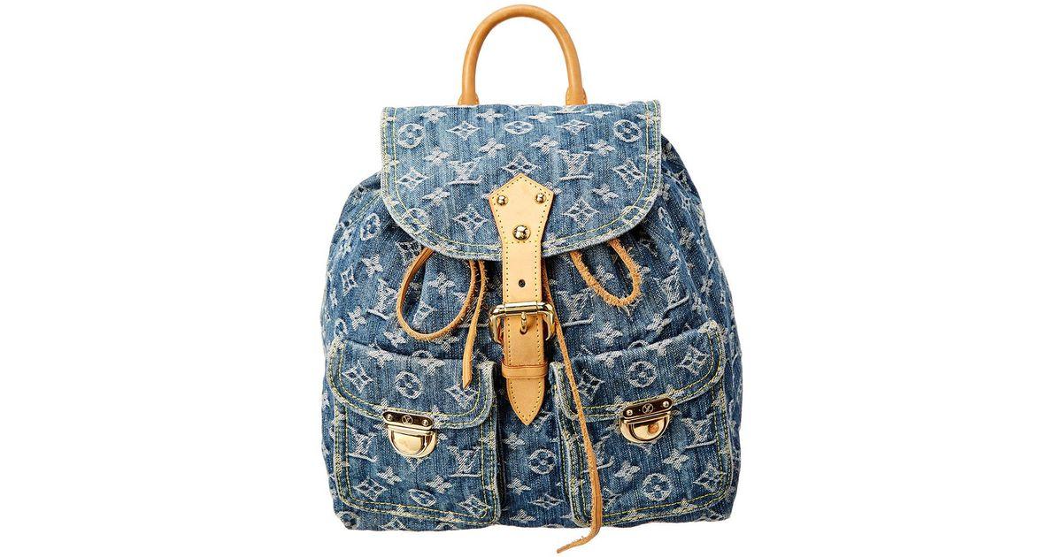 3296eba7d15 Lyst - Louis Vuitton Blue Monogram Denim Sac A Dos Gm in Blue