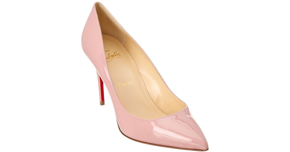 d1c6178e0e6a Lyst - Christian Louboutin Pigalle Follies 85 Patent Pump in Pink