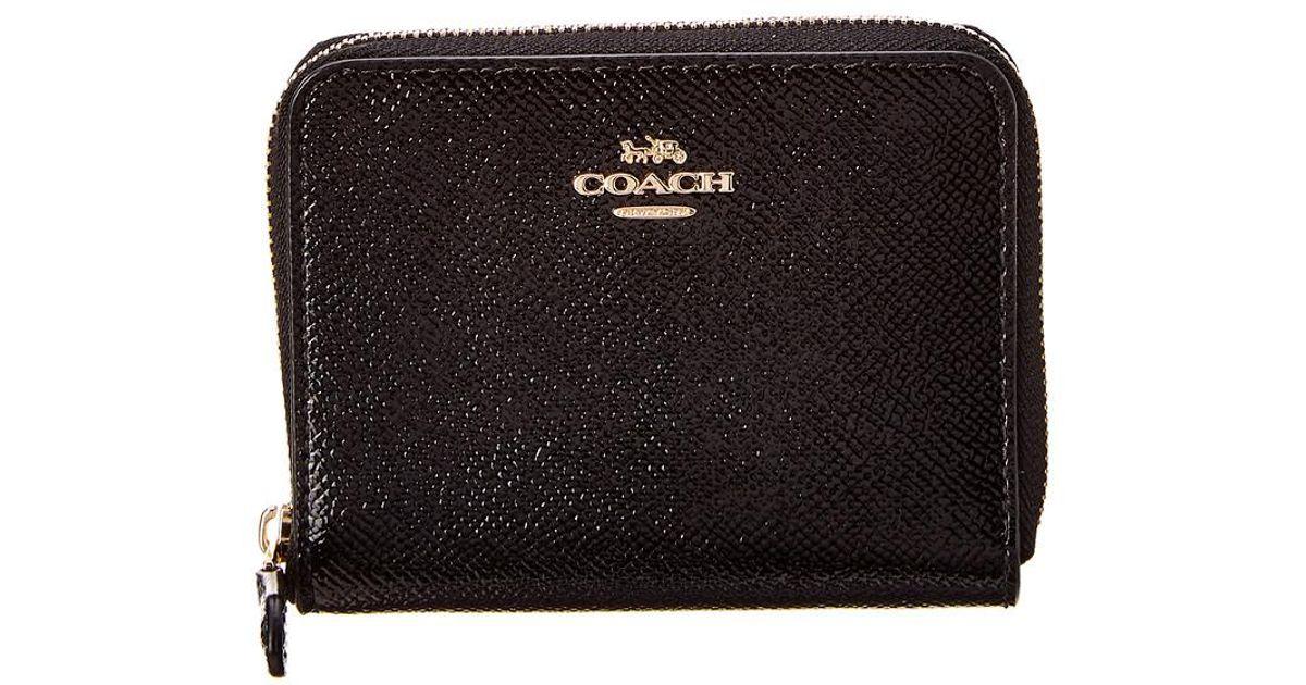 789f64924bb2 Lyst - COACH Small Zip Around Wallet in Black