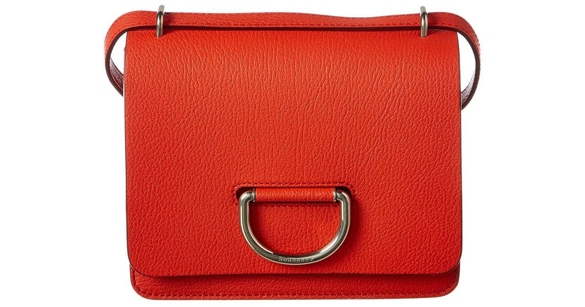 4bf24a0a979 Burberry - Red Small D-ring Leather Crossbody - Lyst
