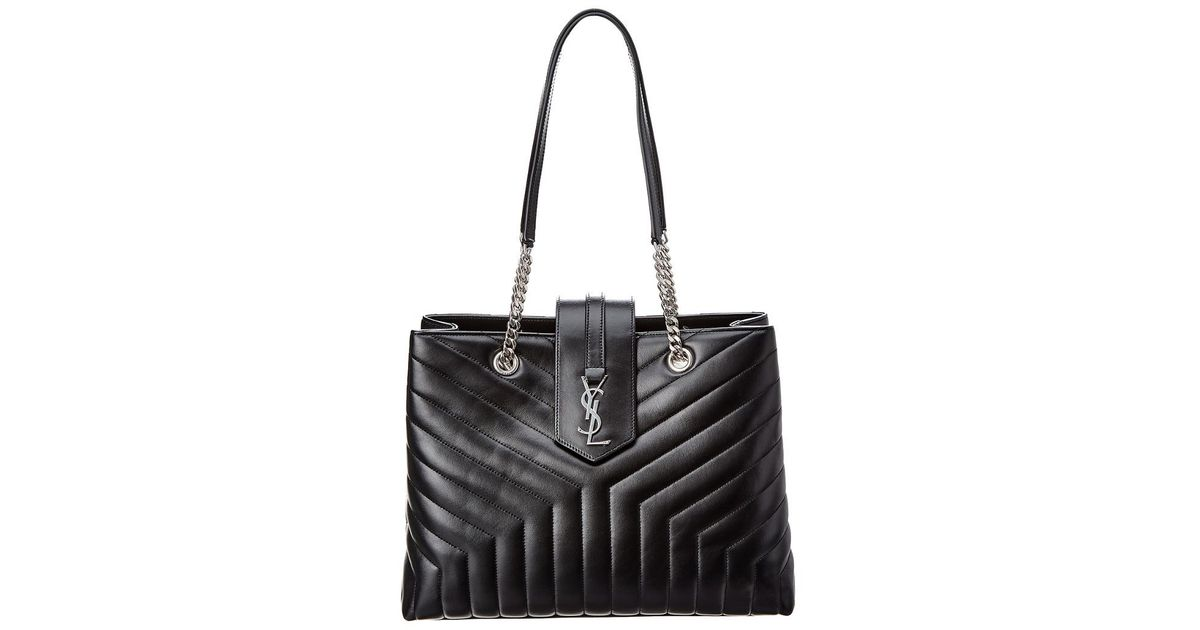 81e797731542 Lyst - Saint Laurent Loulou Large Y Quilted Leather Shoulder Bag in Black
