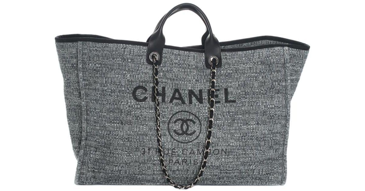 e6c21c1d58d4 Lyst - Chanel 2018 Limited Edition Blue Canvas Deauville Grande Shopper in  Blue