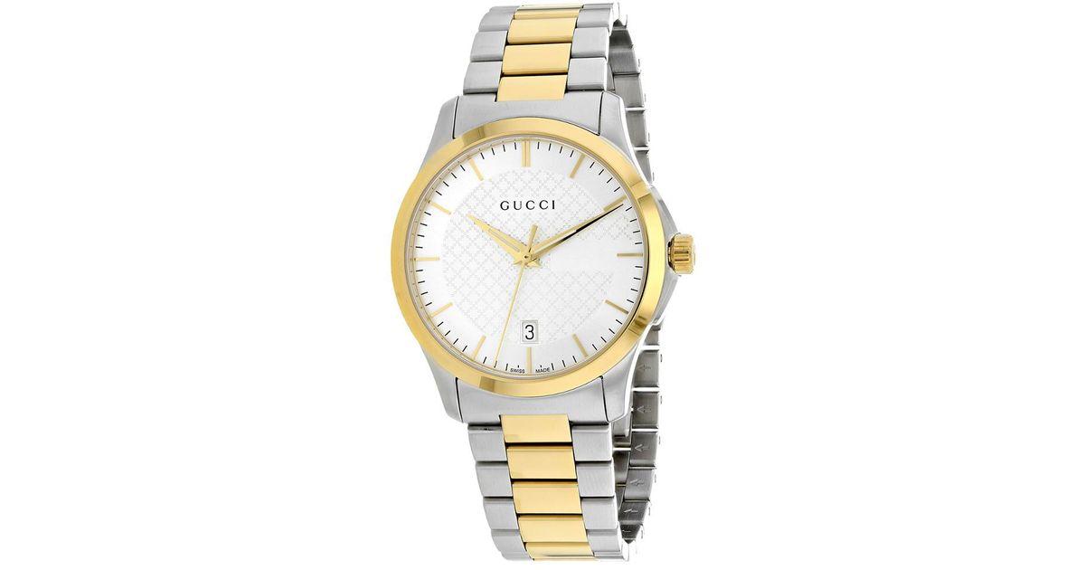 f13b6c8ba47 Lyst - Gucci Men s G-timeless Watch in Metallic for Men