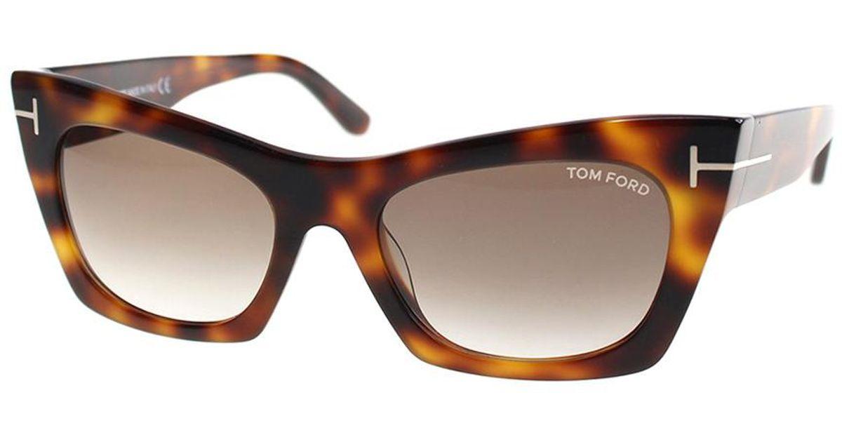 4e0d425398b0 Lyst - Tom Ford Women s Kasia 55mm Sunglasses in Brown