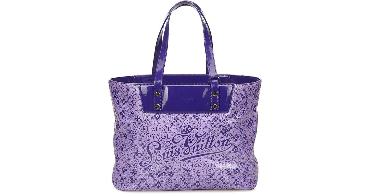 add603a3ab699 Louis Vuitton Limited Edition Purple Cosmic Blossom Monogram Vinyl Tote Gm  in Purple - Lyst
