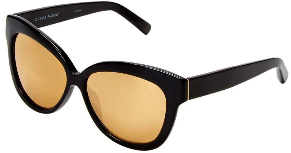9166eddce465 Lyst - Linda Farrow Luxe 60.5mm Cat-eye Sunglasses