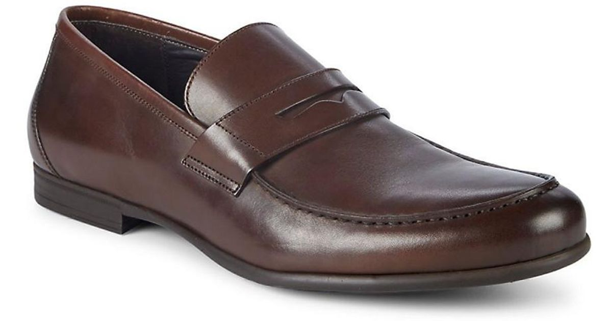 a12d6622506 Lyst - Harry S Of London Harrys Of London James Leather Penny Loafers in  Brown for Men - Save 0.5%