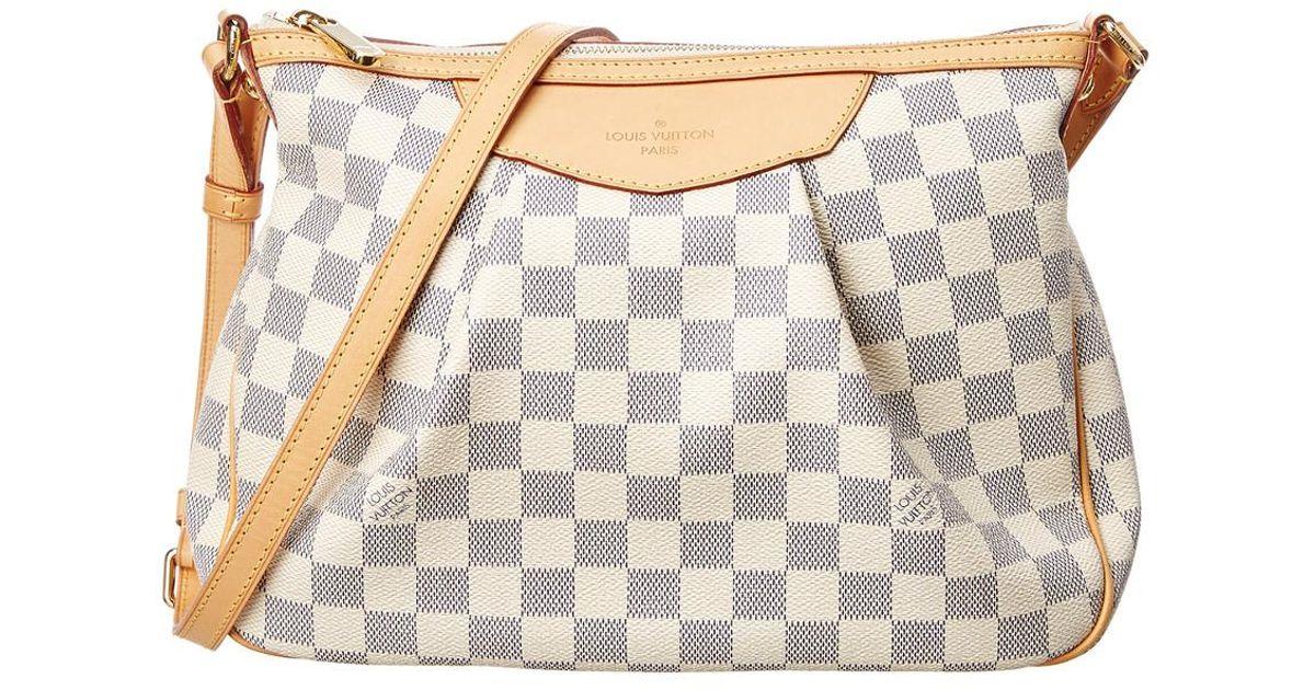 Lyst - Louis Vuitton Damier Azur Canvas Siracusa Pm 4235c07da6
