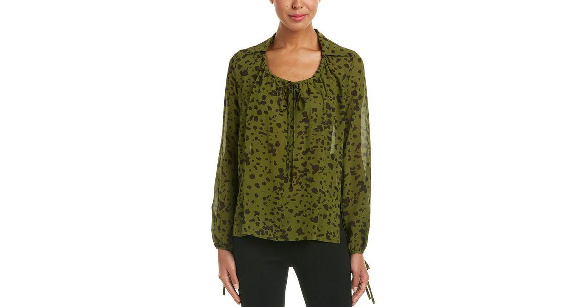 b971bc21cc5de9 ESCADA Silk Top in Green - Save 43% - Lyst