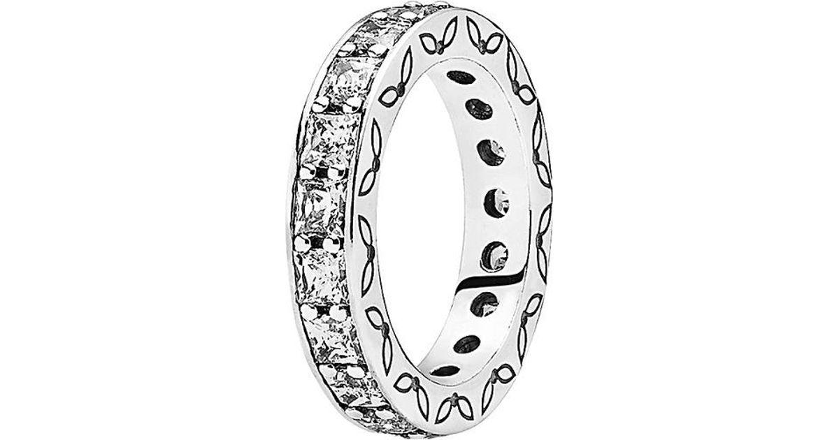 eca5c00f3 Lyst Pandora Eternity Silver Cz Ring In Metallic. Pandora Ring Her Majesty Pink  Cz Sterling Silver