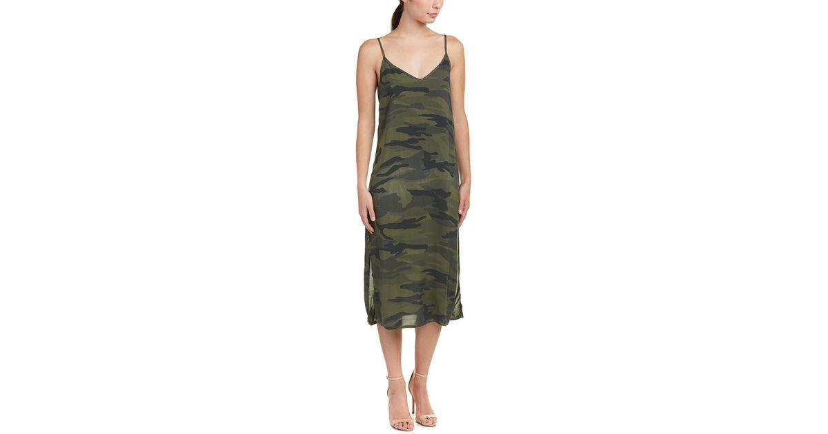 ac1370f2923e3 Splendid Camo Tank Dress in Green - Lyst