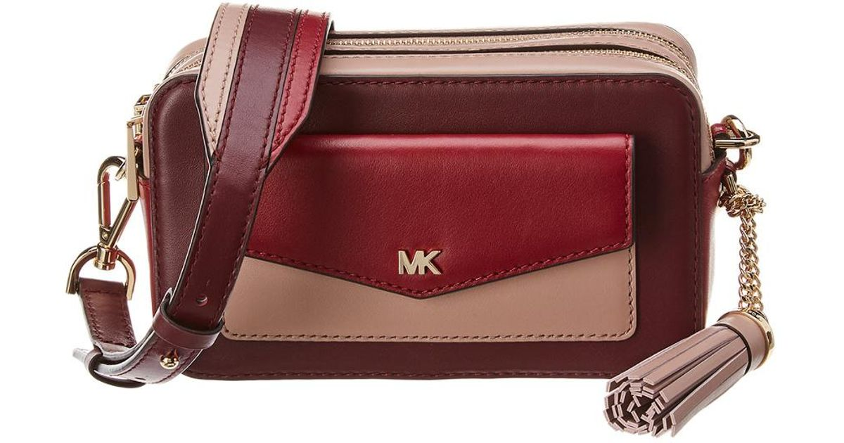 84391e747be7 MICHAEL Michael Kors Michael Kors Whitney Pocket Small Camera Leather Bag -  Lyst