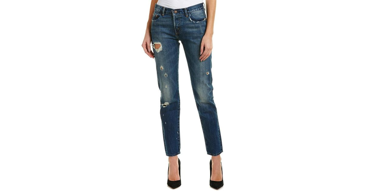 free delivery well known official images Levi's Blue 1967 Customized 505 Femme Fatale Straight Leg