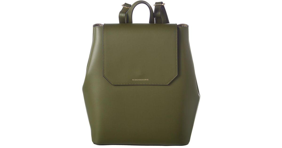 869c867100c8 Lyst - BCBGMAXAZRIA Juliet Leather Backpack in Brown