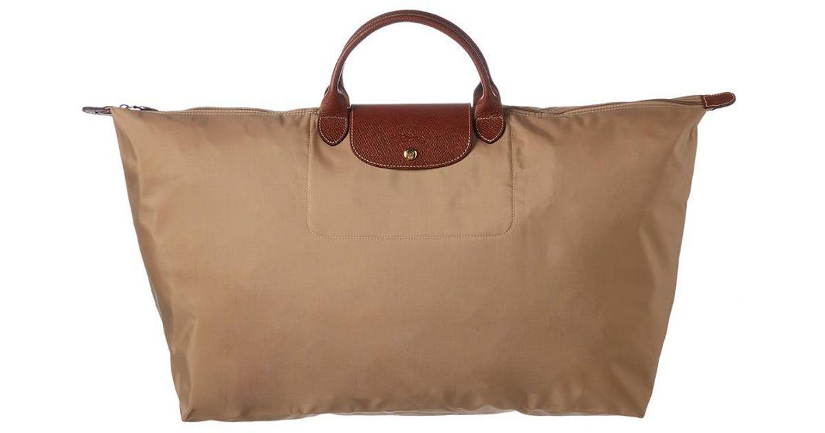 59767b40a3cad Longchamp Le Pliage Xl Nylon Travel Bag in Purple - Lyst
