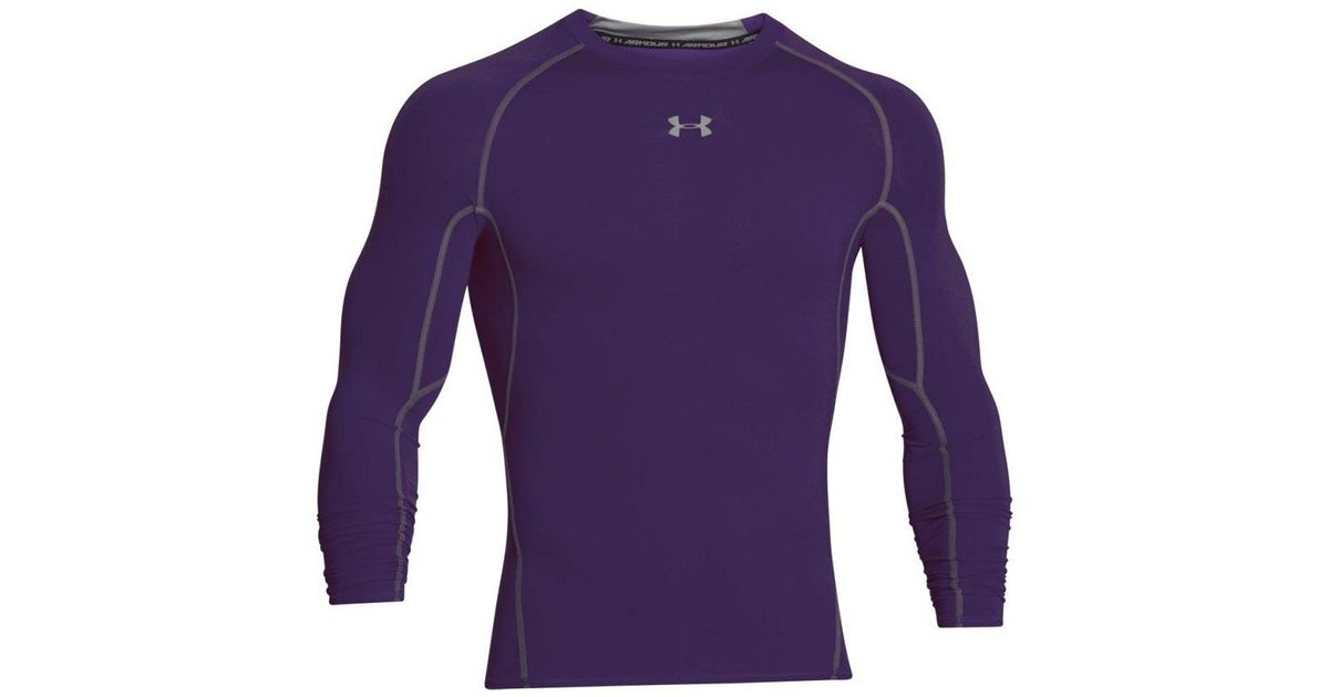 Lyst - Under Armour Men s Heatgear® Armour Long Sleeve Compression Shirt in  Purple for Men 7c4c9e6c1ae5