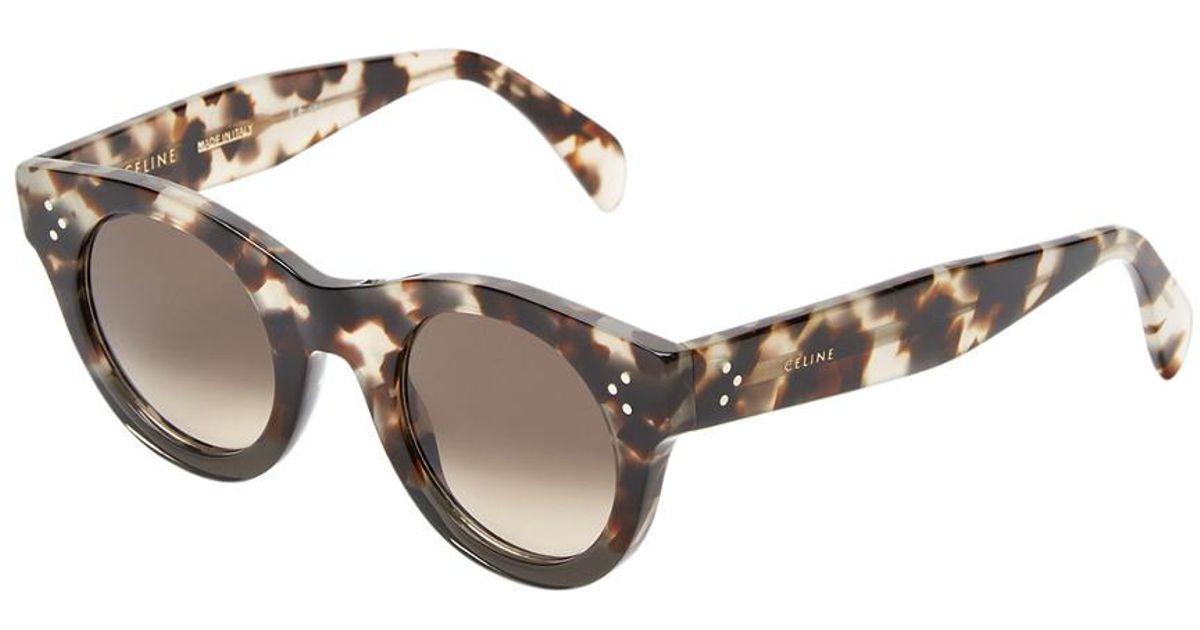 11fa455c173c Céline Cl 41425 s 44mm Polarized Sunglasses in Gray - Lyst
